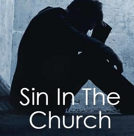 Graphic of man praying about his sin