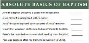 List of Bible verses related to Baptism